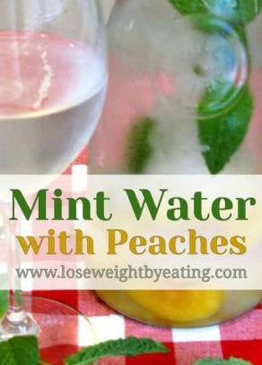 Mint Water with Peaches