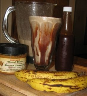 Chocolate, Banana and Almond Butter Smoothie