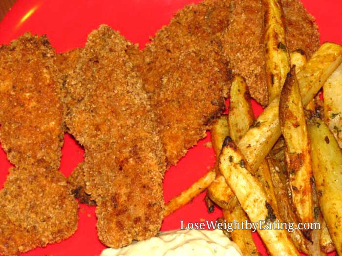 Healthy Chicken Recipes - Baked Chicken Strips Recipe